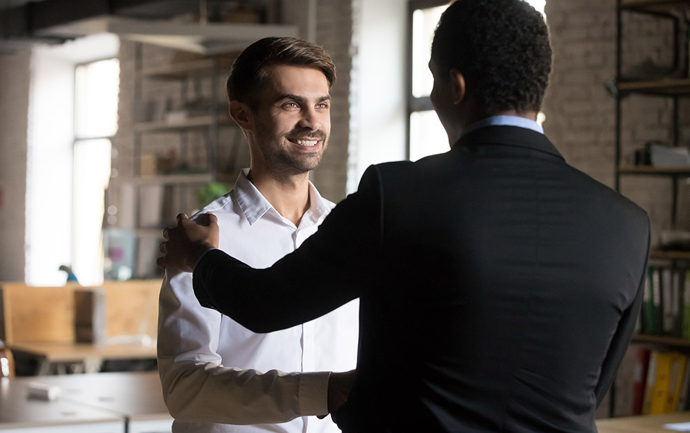 An employee gets promoted